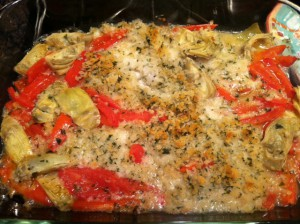 Cod with Tomatoes and Artichokes