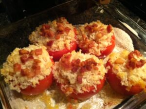 Risotto Stuffed Tomatoes